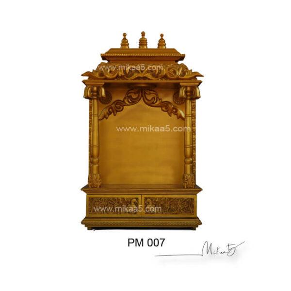wood temple for home   pooja mandir
