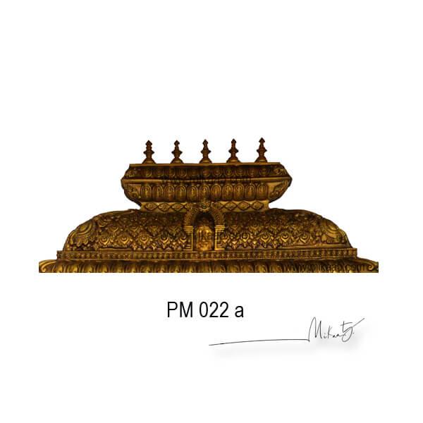 Pooja altar with Yazhi