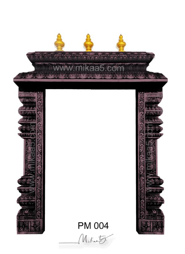 simple hand carved pooja mandir